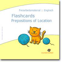 Englisch Material Grundschule flashcards prepositions of location