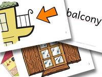 Englisch Grundschule Bildkarten flashcards parts of the house kaufen